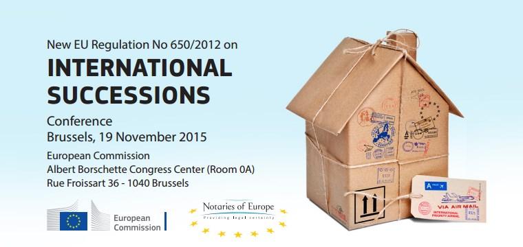 Conferência sobre sucessões transfronteiriças na UE - Novo Regulamento (UE) n.º 650/2012