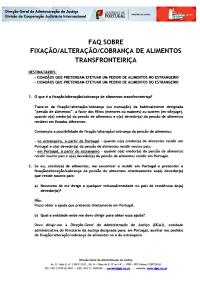 FAQ sobre fixação/alteração/cobrança de alimentos transfronteiriça