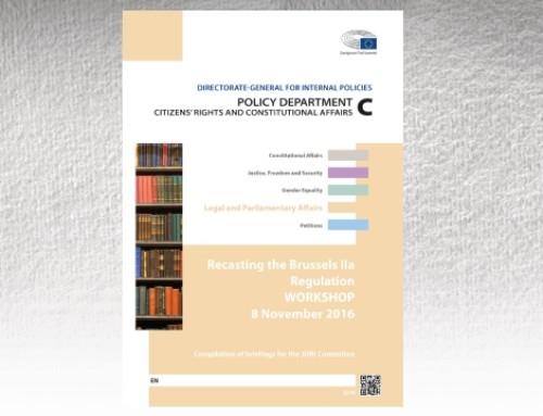 Workshop sobre a Revisão do Regulamento Bruxelas IIa – Comentários