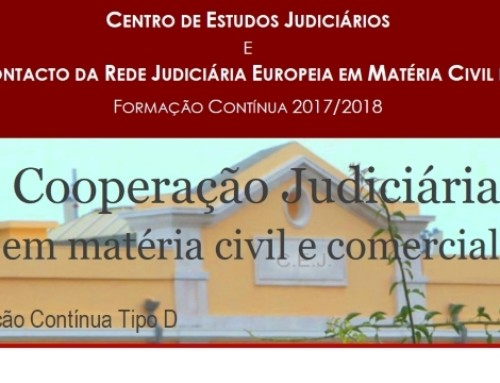 Workshop de Cooperação Judiciária Europeia em Matéria Civil