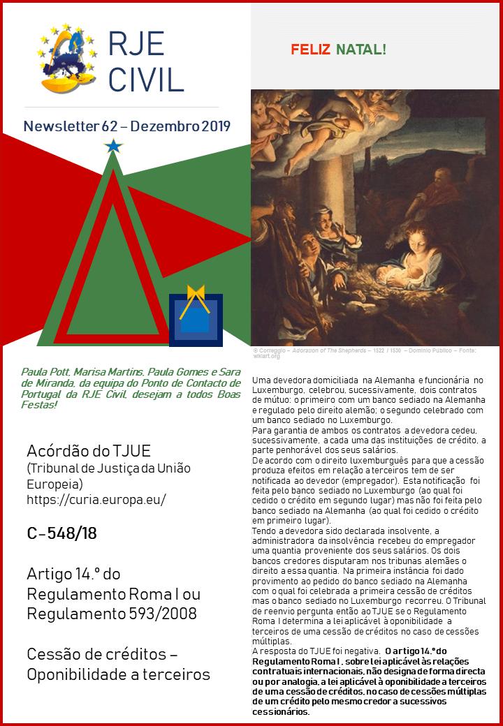 Newsletter 62 Dezembro 2016