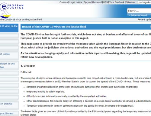 Efeitos da Pandemia Covid-19 na Justiça na UE
